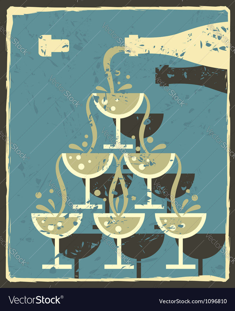 Bottle and glasses vector | Price: 1 Credit (USD $1)