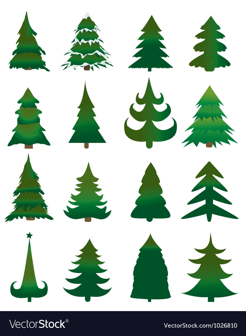 Christmas pine trees vector | Price: 1 Credit (USD $1)