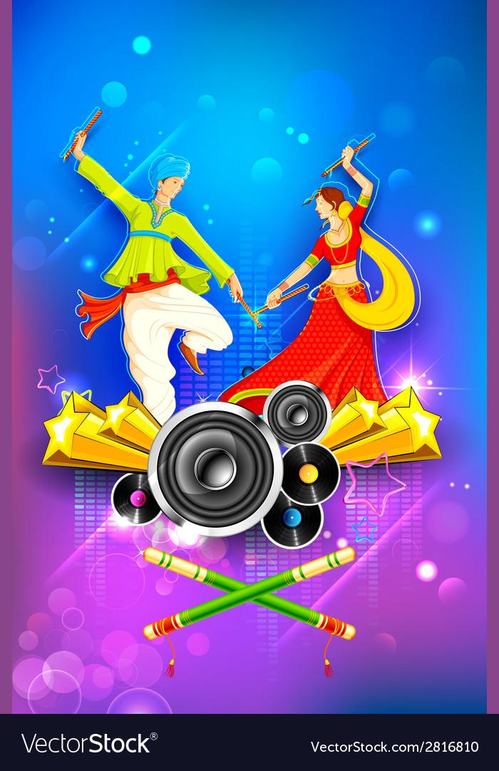 Dandiya night poster vector   Price: 1 Credit (USD $1)