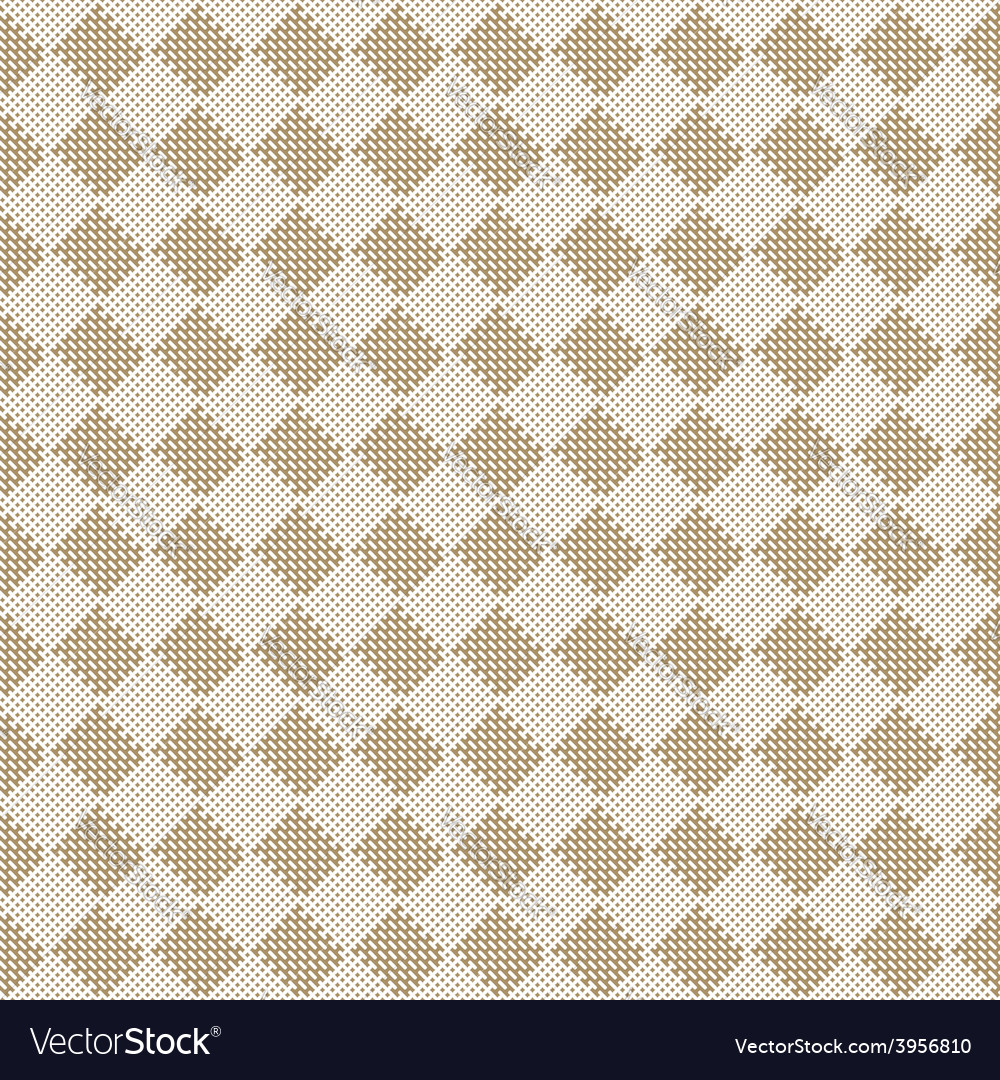 Diagonal square beige seamless fabric texture vector | Price: 1 Credit (USD $1)