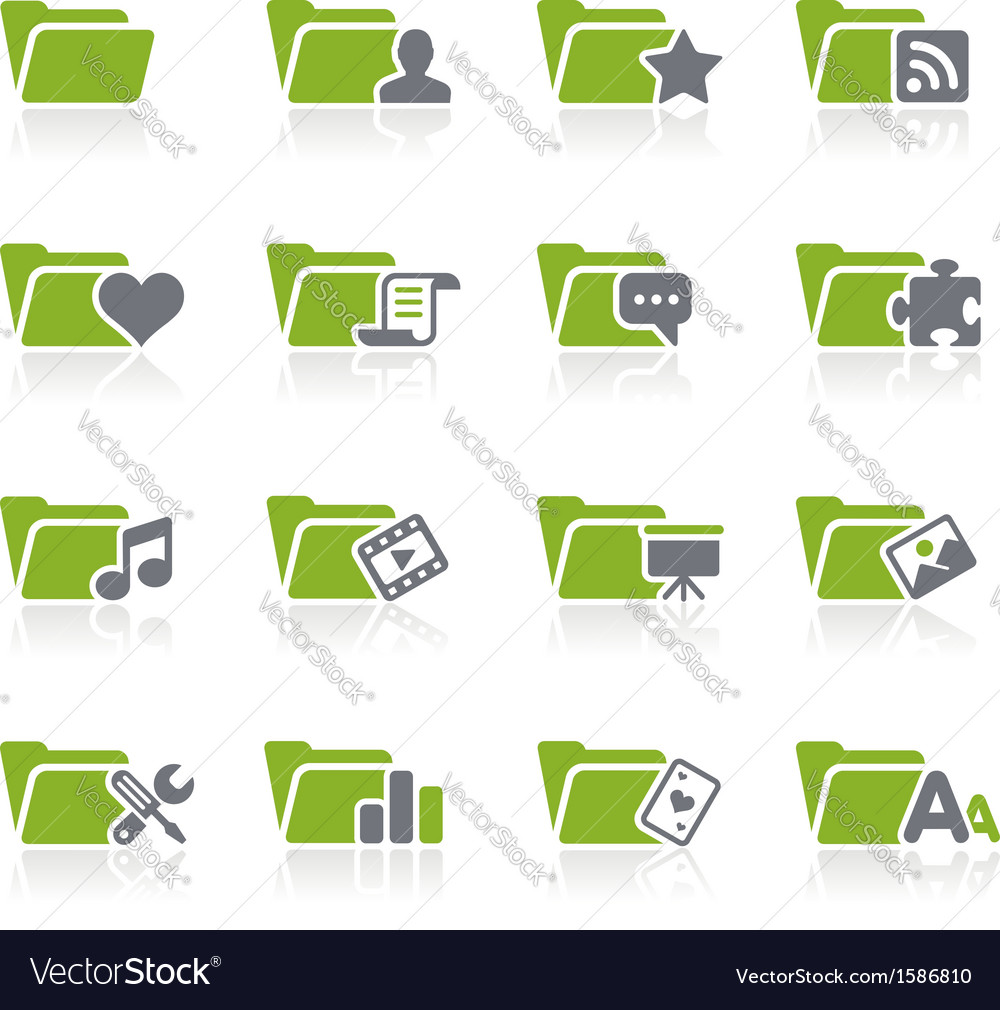 Folders icons vector | Price: 1 Credit (USD $1)