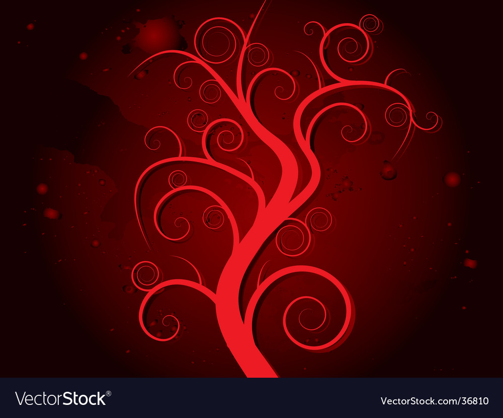 Haunted tree blood vector | Price: 1 Credit (USD $1)