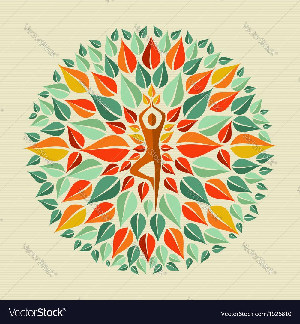 India yoga mandala vector | Price: 1 Credit (USD $1)