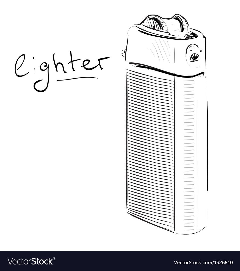 Lighter cartoon sketch vector | Price: 1 Credit (USD $1)