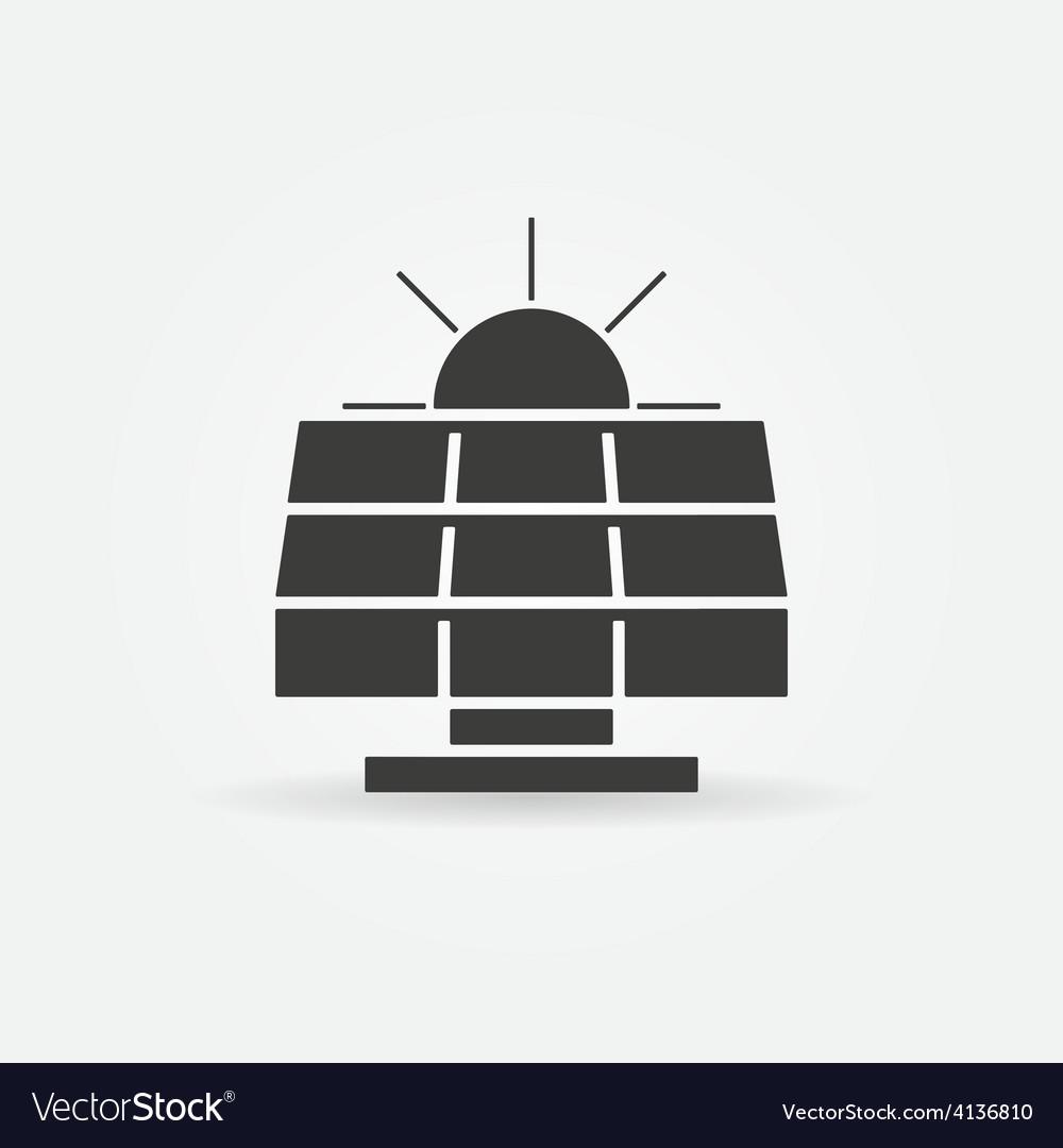 Solar energy icon or logo vector | Price: 1 Credit (USD $1)