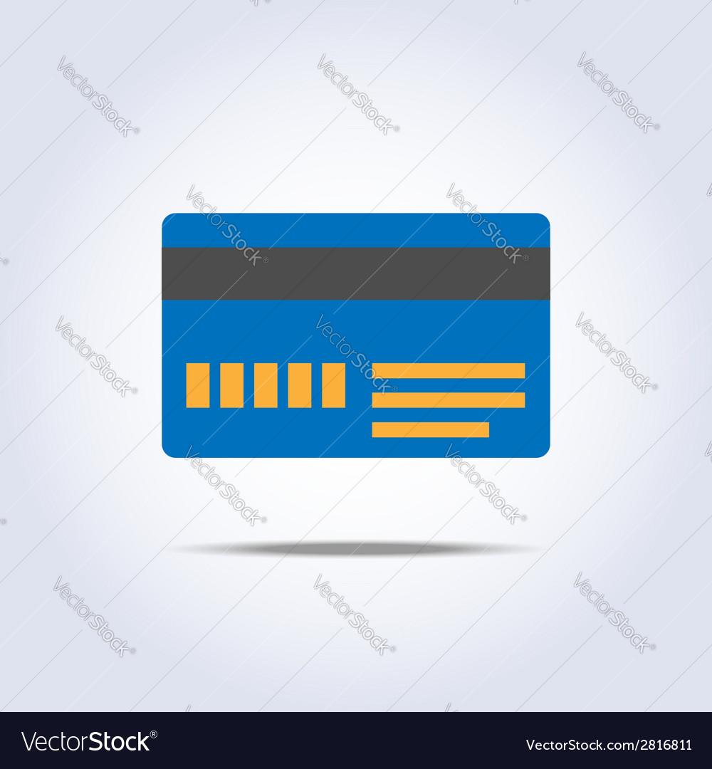 Blue color credit card icon vector | Price: 1 Credit (USD $1)