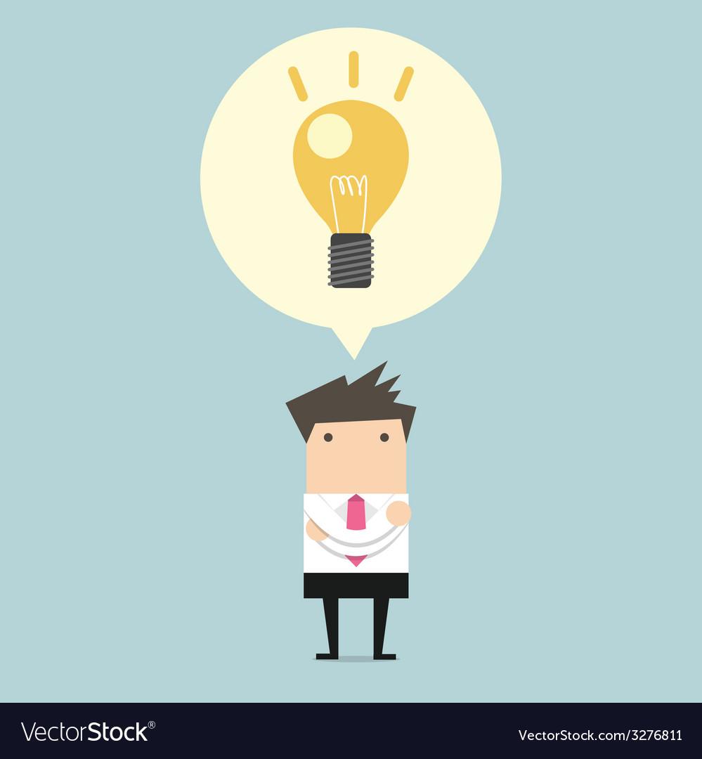 Creative businessman get the idea under a lightbul vector | Price: 1 Credit (USD $1)