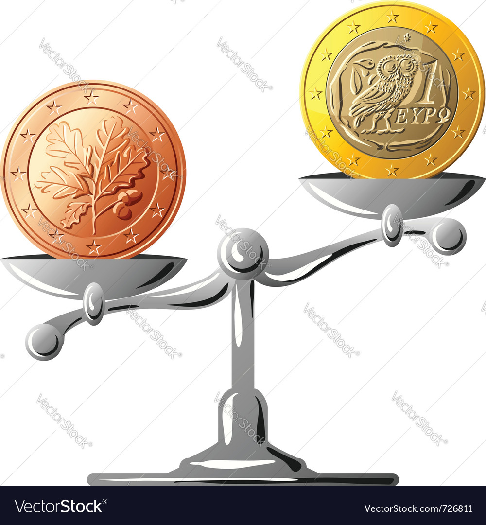 German coin vector | Price: 1 Credit (USD $1)