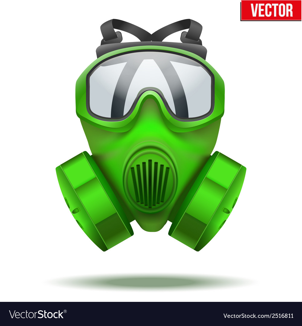 Green gas mask respirator vector | Price: 1 Credit (USD $1)