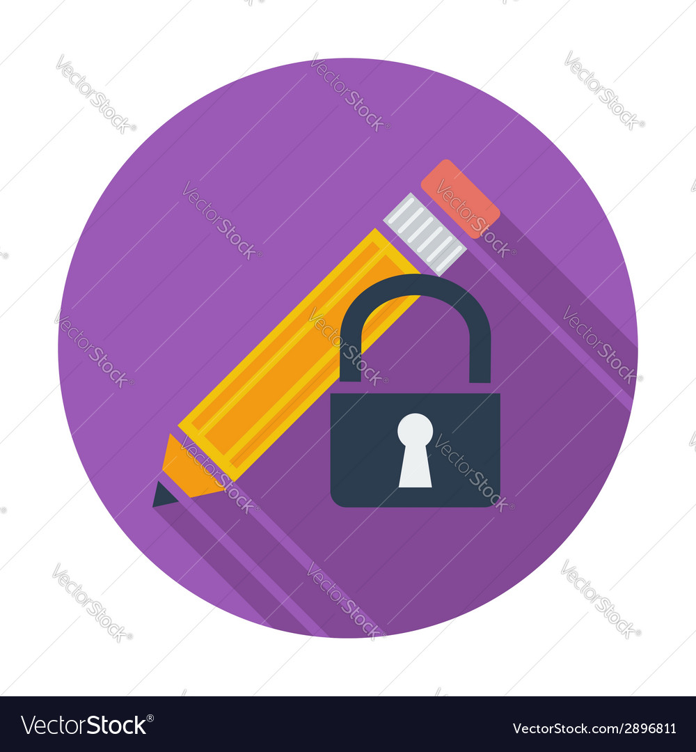Lock for editing single icon vector | Price: 1 Credit (USD $1)