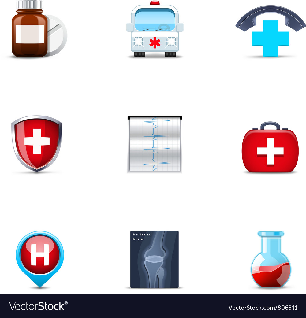 Medical and healthcare icons vector | Price: 3 Credit (USD $3)