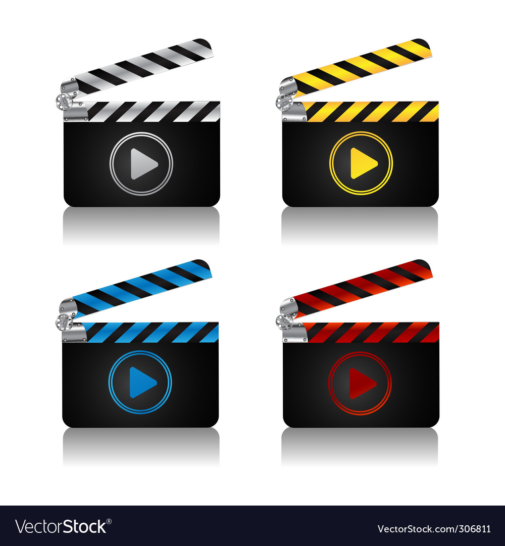 Movie clapper vector | Price: 3 Credit (USD $3)