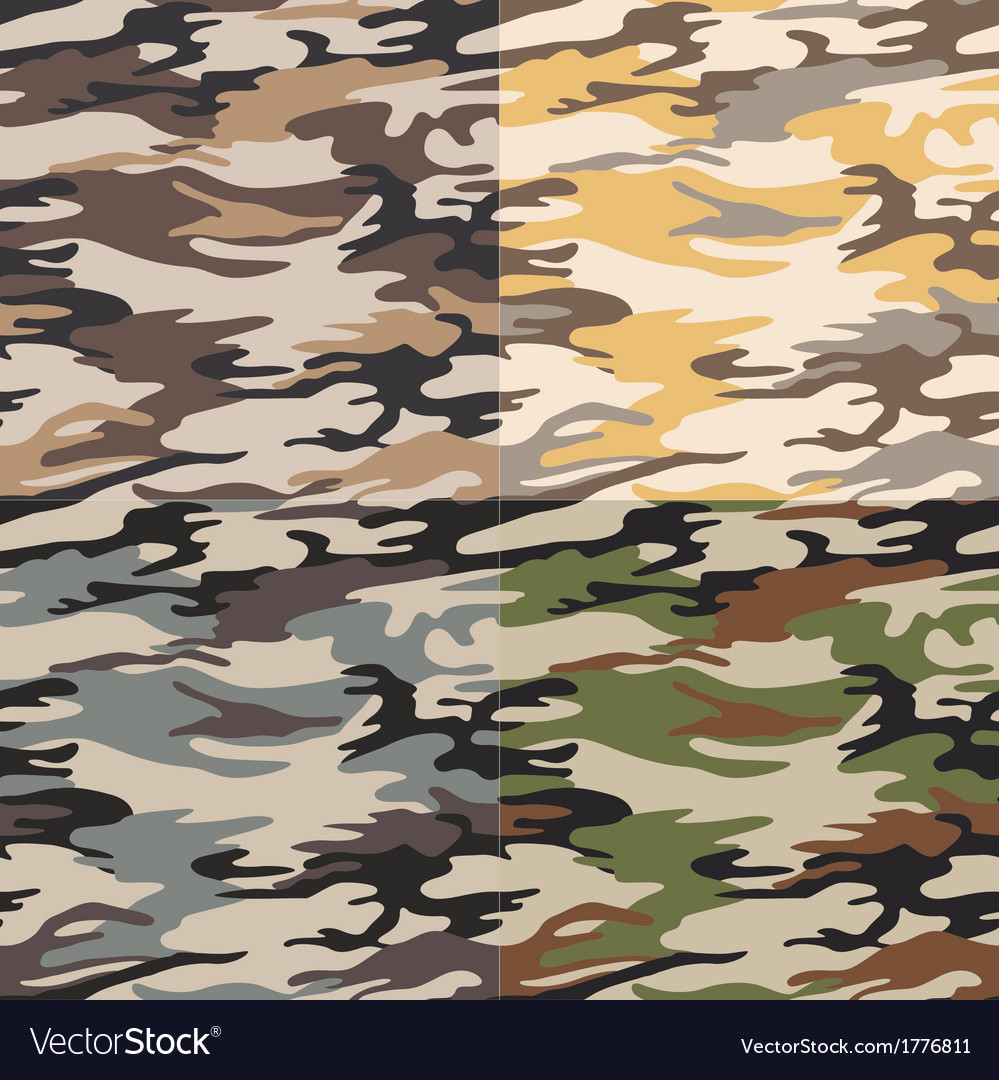 Seamless camouflage pattern vector | Price: 1 Credit (USD $1)