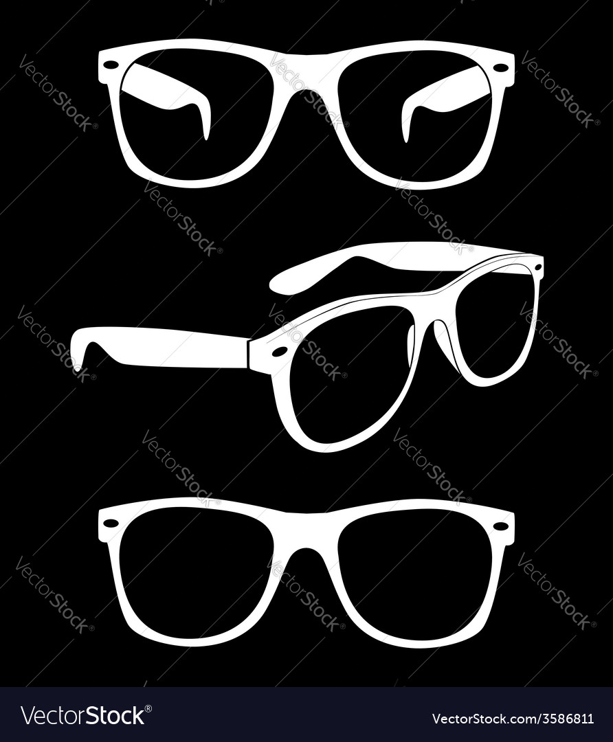 Set of hipster sunglasses vector | Price: 1 Credit (USD $1)
