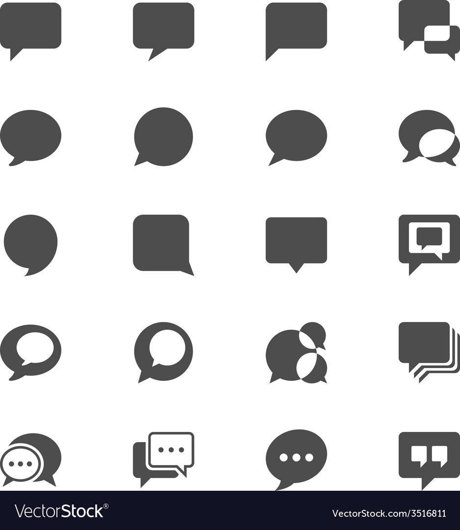 Speech bubble flat icons vector | Price: 1 Credit (USD $1)