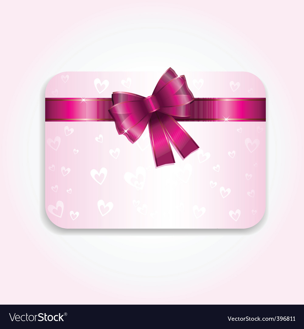 Valentines day gift card vector | Price: 1 Credit (USD $1)