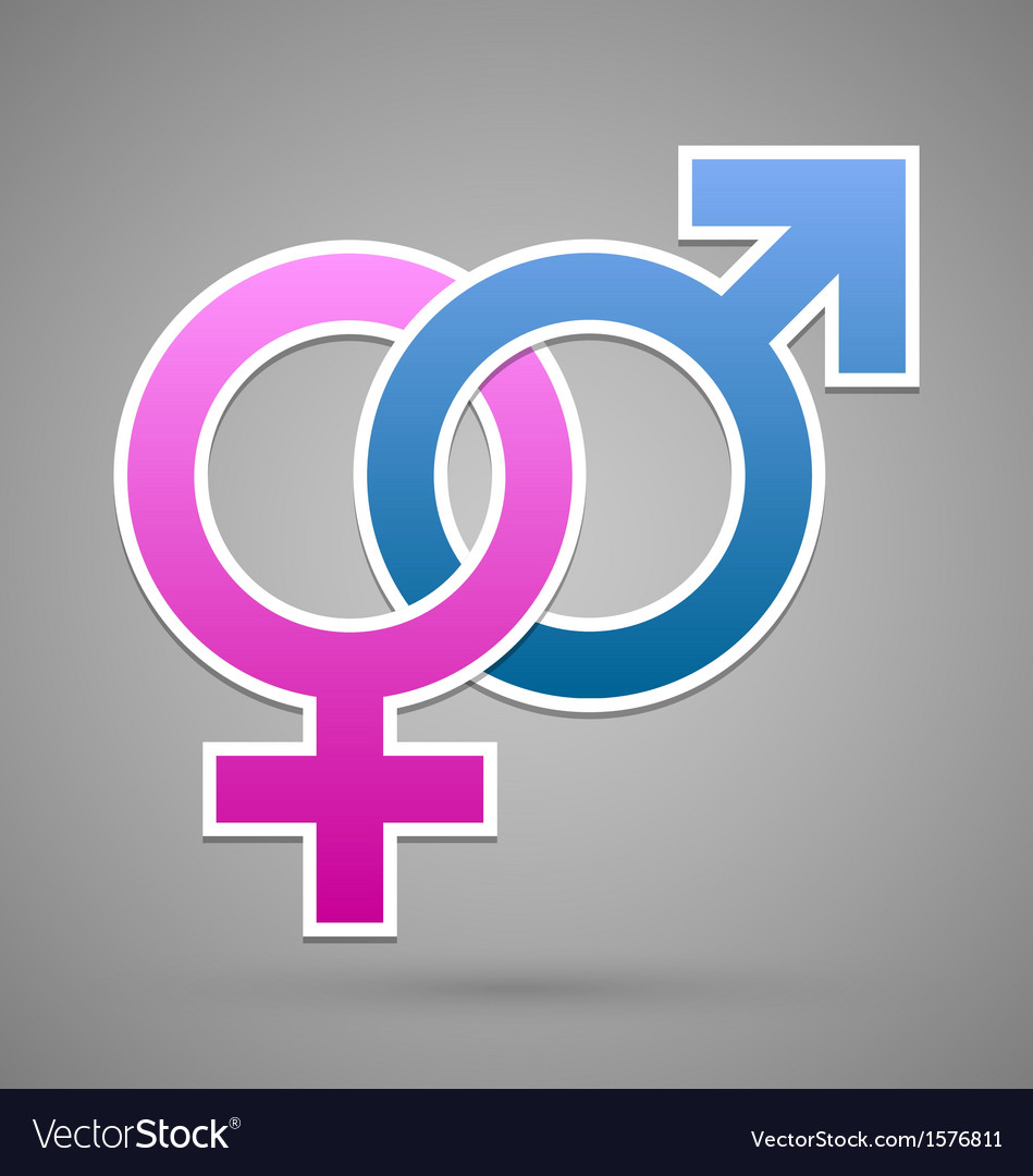 Venus and mars female and male symbol vector | Price: 1 Credit (USD $1)