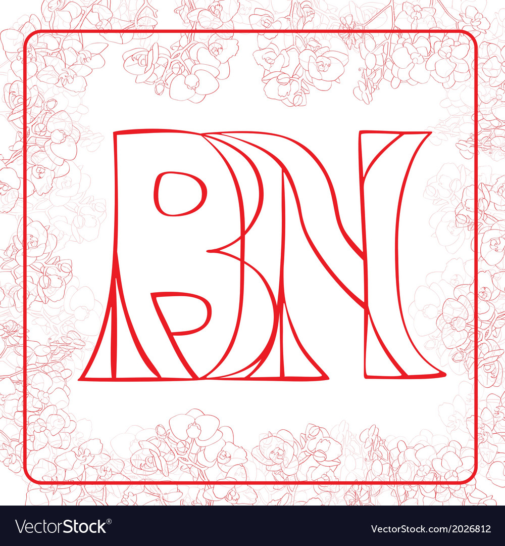 Bn monogram vector   Price: 1 Credit (USD $1)