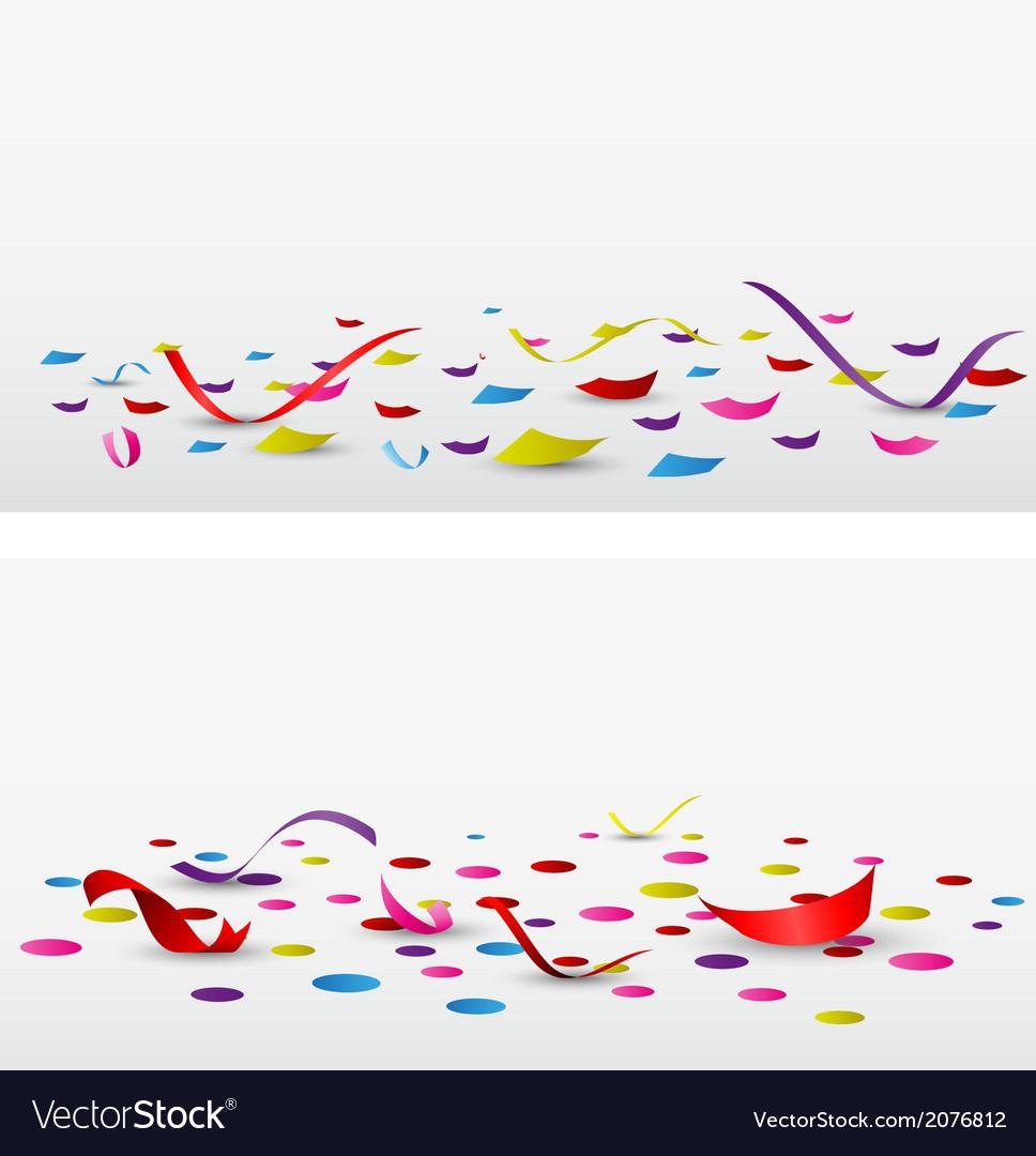 Celebration confetti set on white background vector   Price: 1 Credit (USD $1)