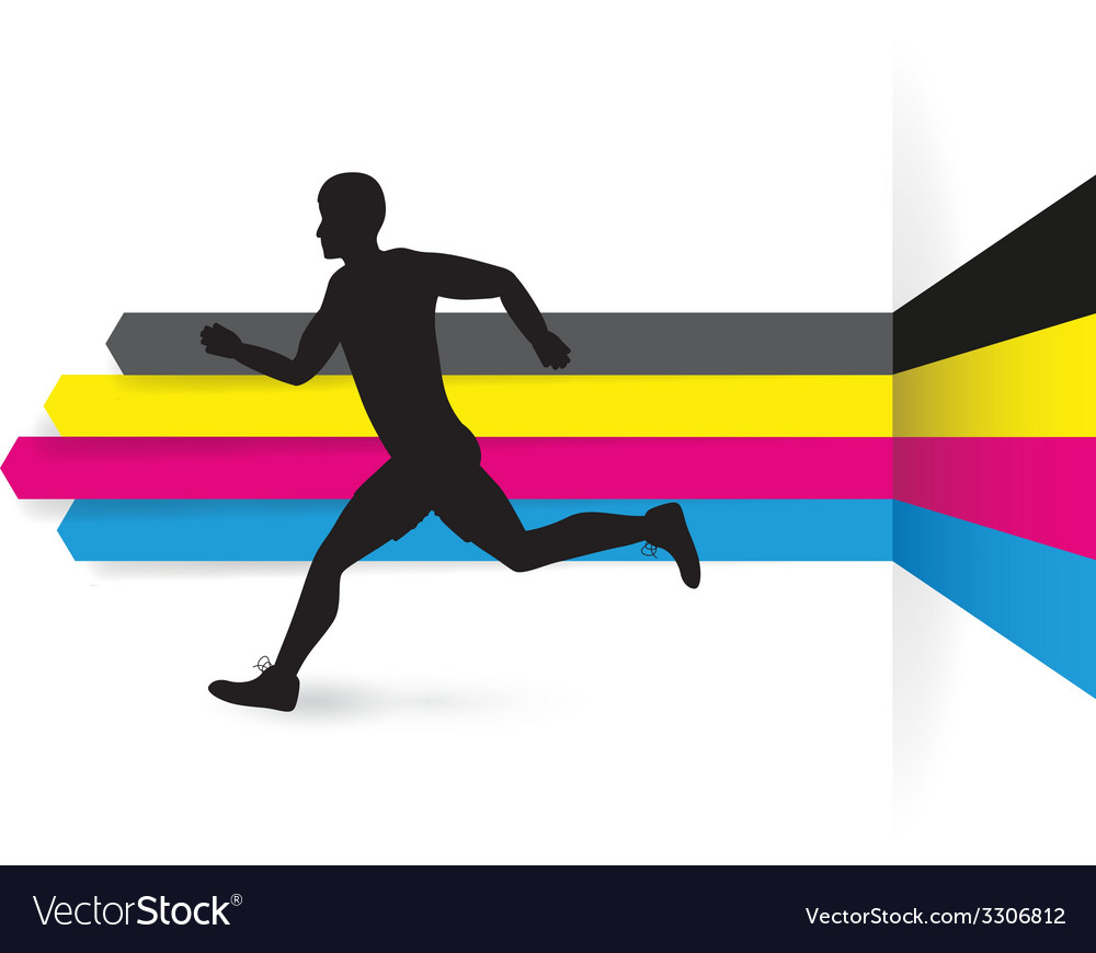 Cmyk side runner vector | Price: 1 Credit (USD $1)