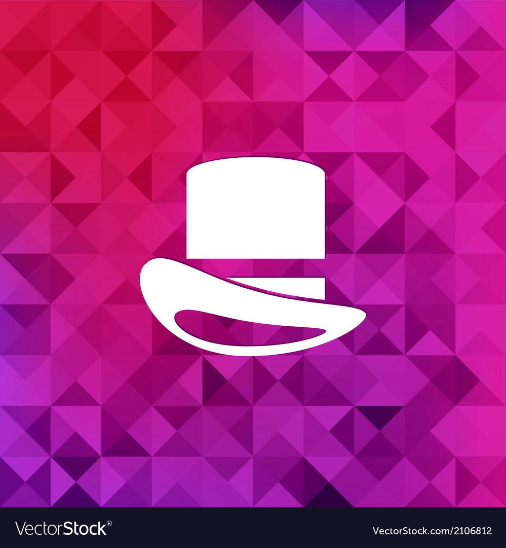 Cylinder hat icontriangle background vector | Price: 1 Credit (USD $1)