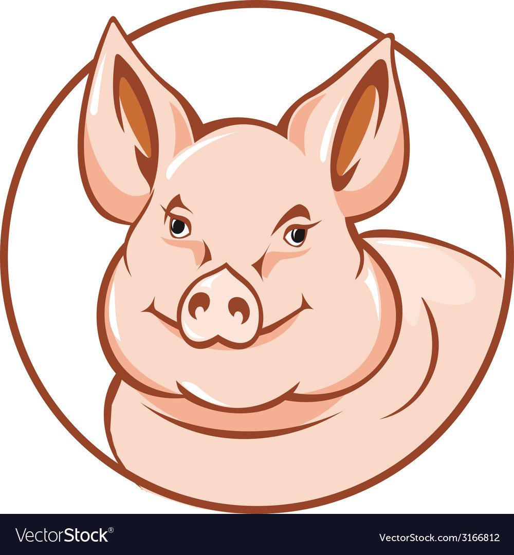 Farm pig vector | Price: 1 Credit (USD $1)