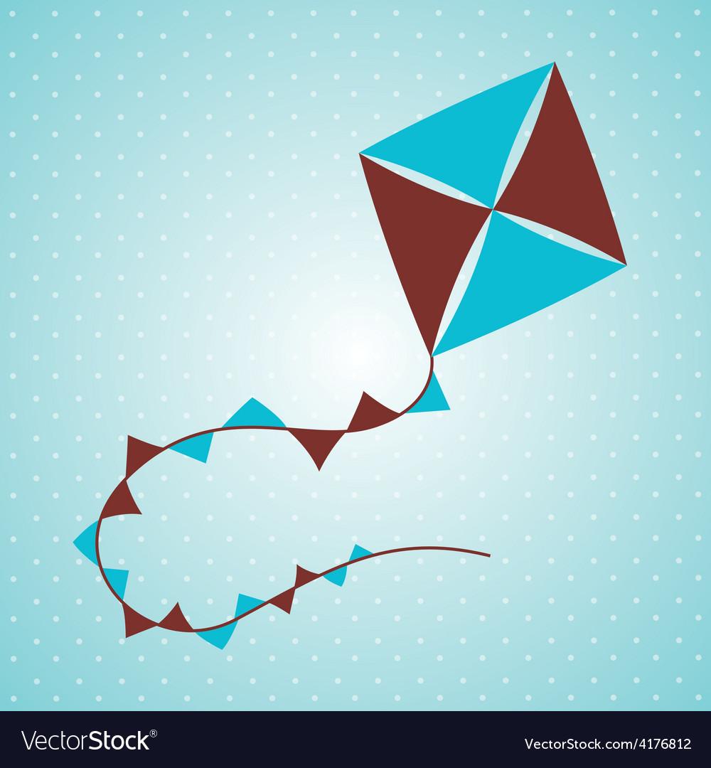Flying kite vector | Price: 1 Credit (USD $1)
