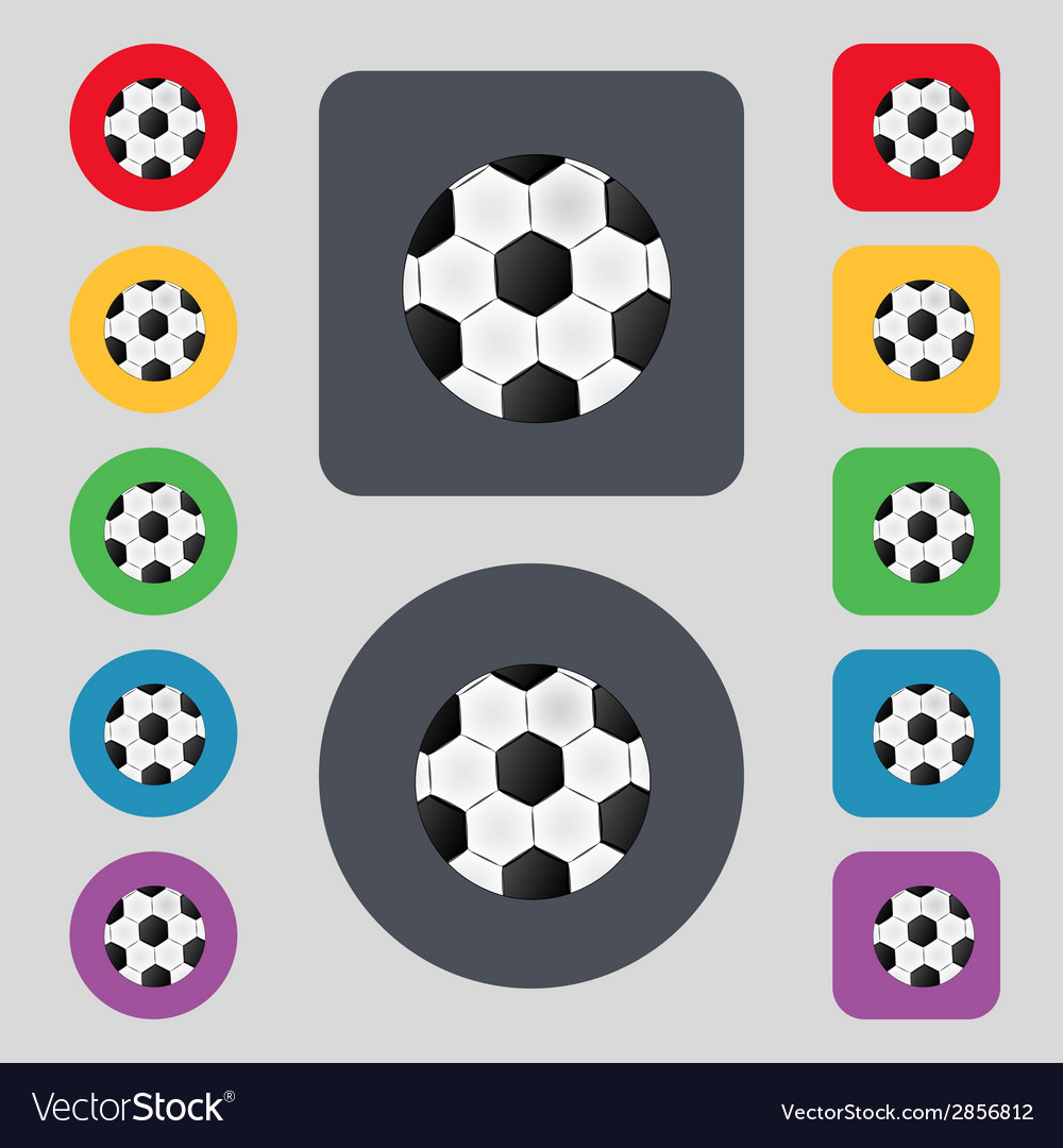 Football ball sign icon soccer sport symbol set vector | Price: 1 Credit (USD $1)
