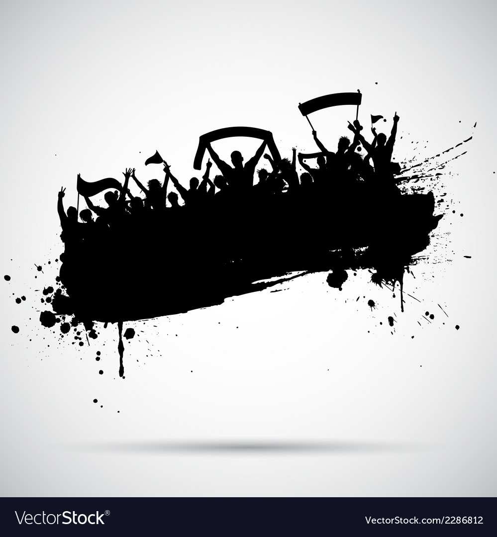 Grunge football crowd vector | Price: 1 Credit (USD $1)