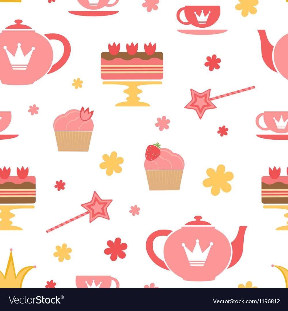 Royal tea party vector
