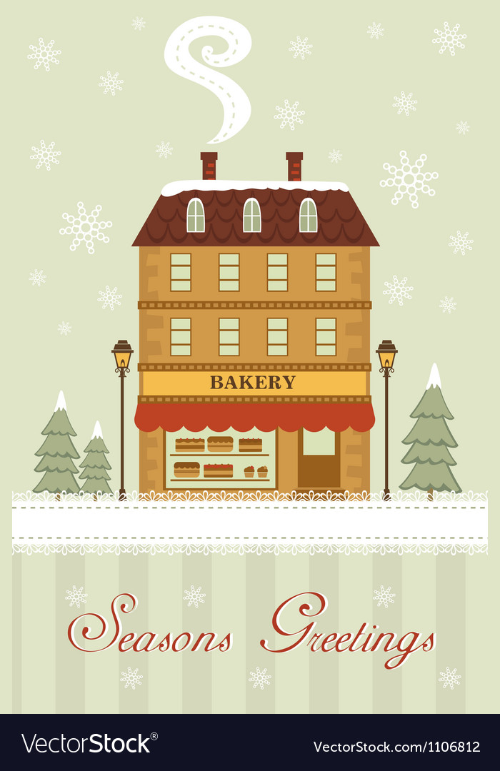 Seasons greetings bakery vector | Price: 1 Credit (USD $1)