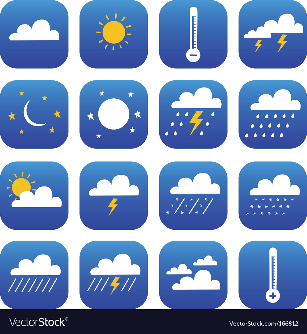 Symbol of weather and climate vector | Price: 1 Credit (USD $1)