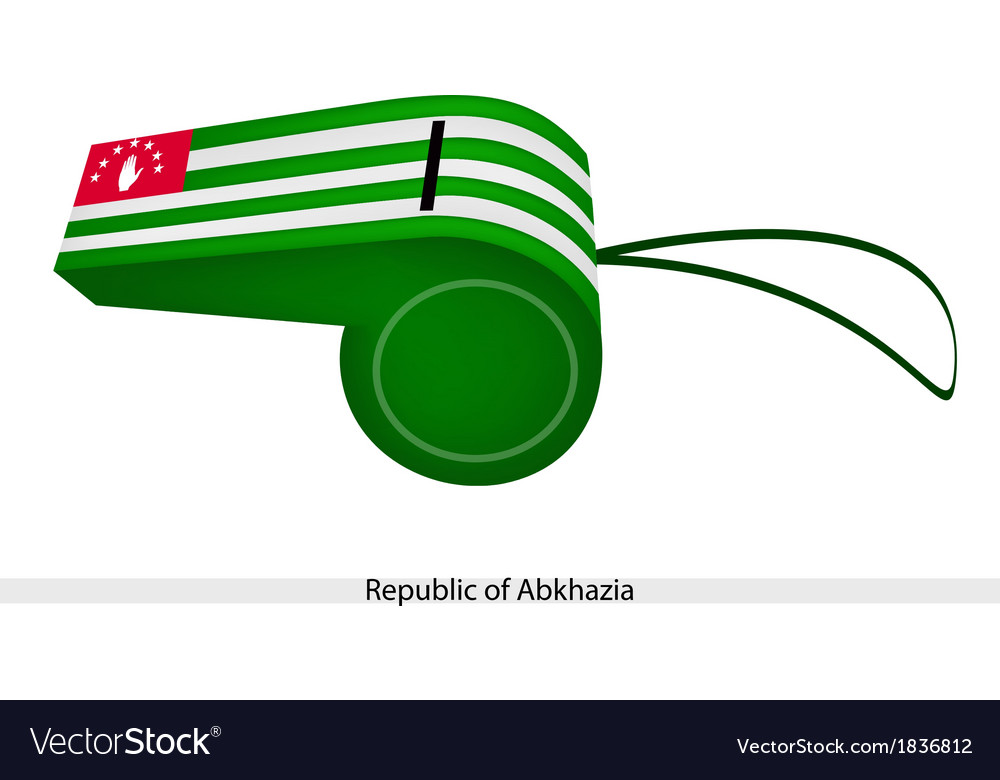 White and green stripe on abkhazia whistle vector | Price: 1 Credit (USD $1)