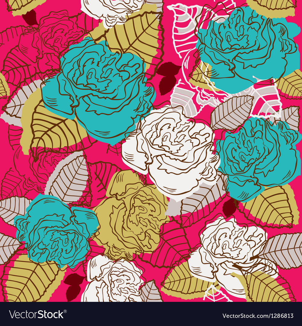 Abstract rose flower seamless vector | Price: 1 Credit (USD $1)