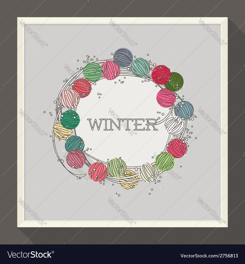 Abstract winter design with colorful beads vector | Price: 1 Credit (USD $1)