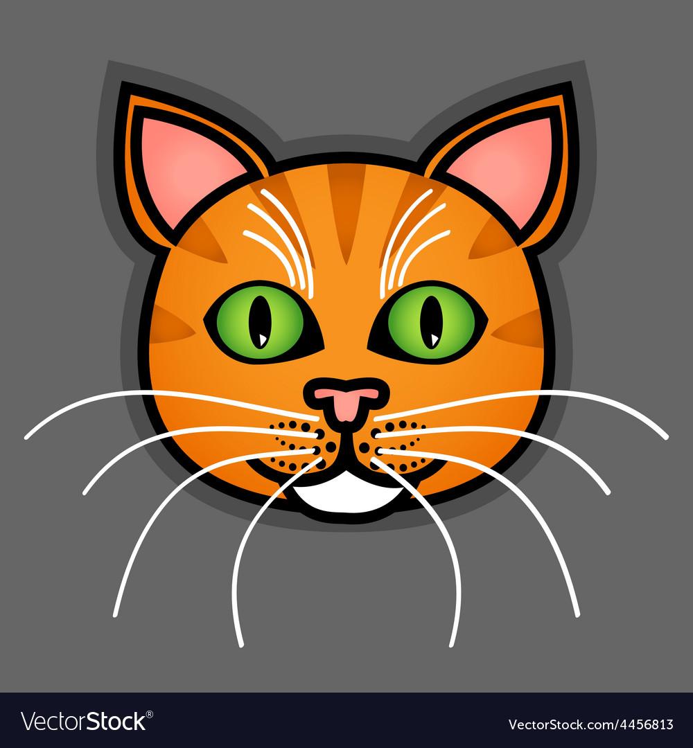 Cartoon orange cat vector | Price: 1 Credit (USD $1)