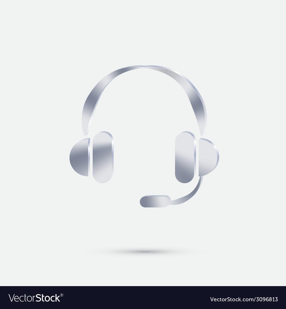 Customer support headphone vector | Price: 1 Credit (USD $1)