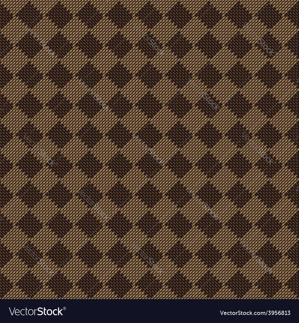 Diagonal square brown beige seamless fabric vector | Price: 1 Credit (USD $1)