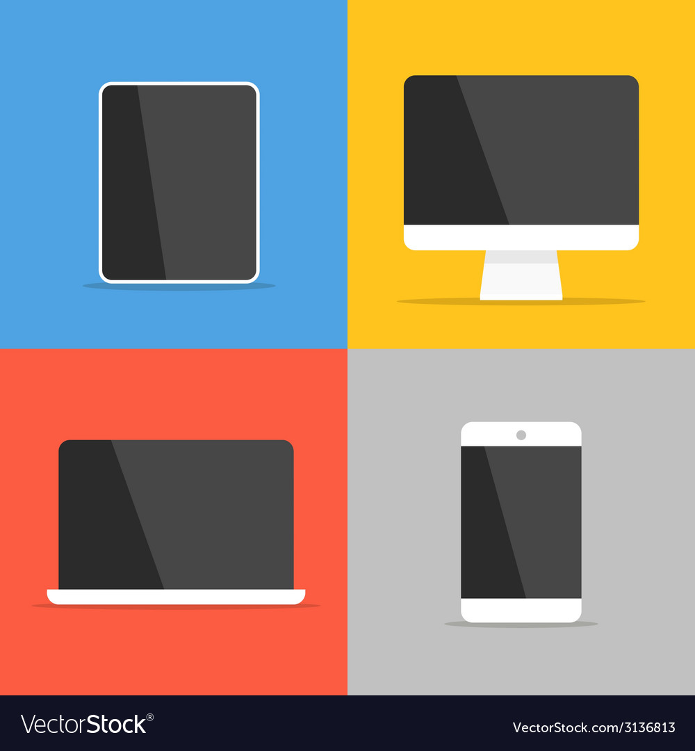 Different modern personal gadgets vector | Price: 1 Credit (USD $1)