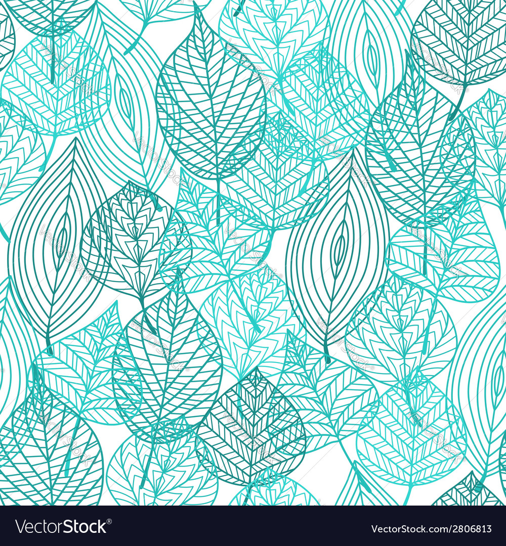 Foliage green leaves seamless pattern vector | Price: 1 Credit (USD $1)