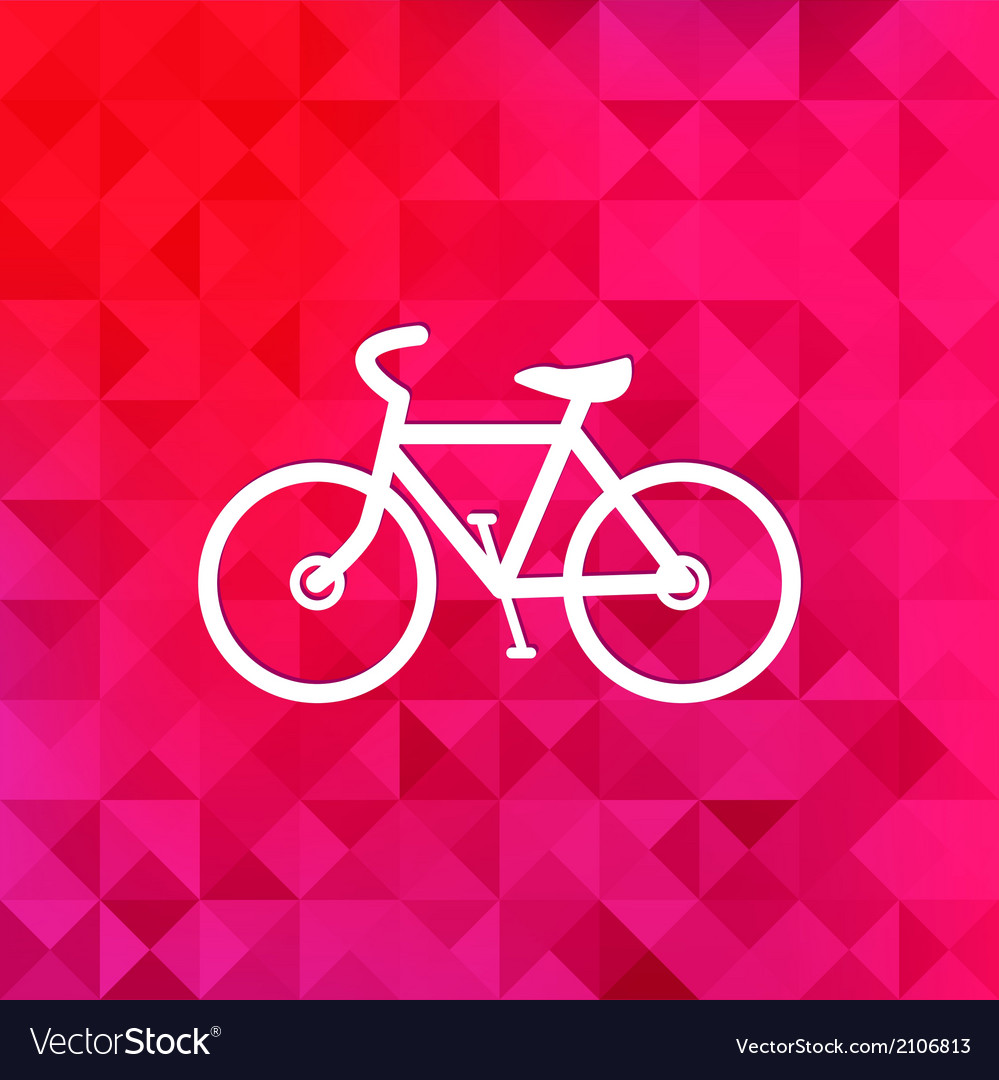 Hipster retro bicycle icontriangle background vector | Price: 1 Credit (USD $1)