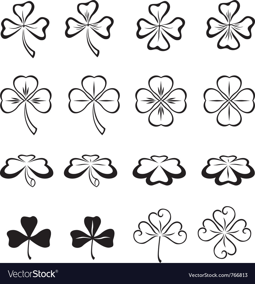 Leaves of clover vector | Price: 1 Credit (USD $1)