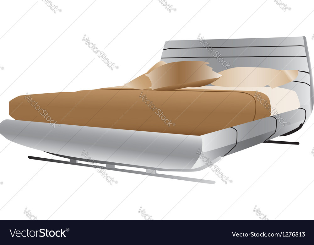 Luxurious double bed vector | Price: 1 Credit (USD $1)