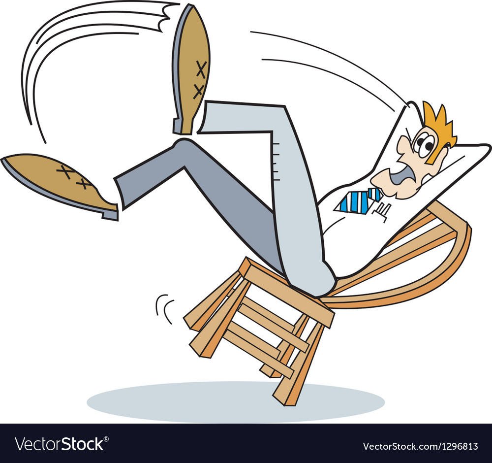 Man falling off chair vector | Price: 1 Credit (USD $1)