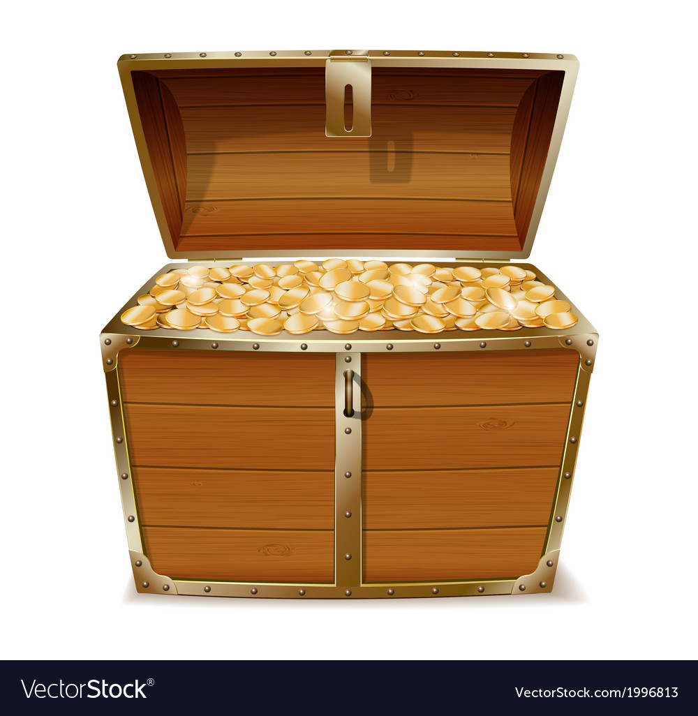 Opened treasure chest vector | Price: 1 Credit (USD $1)