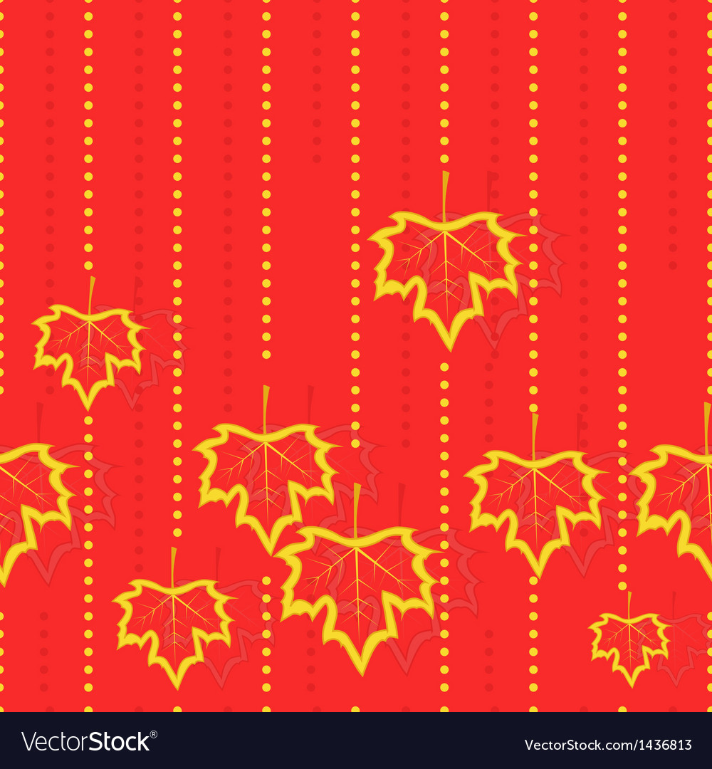 Pattern with maple leaves vector | Price: 1 Credit (USD $1)