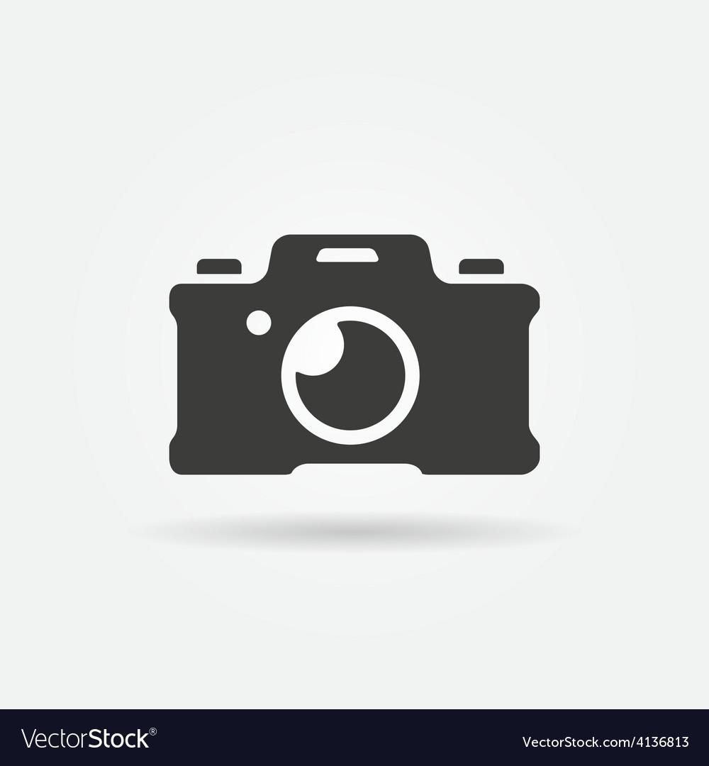Photo camera icon or logo vector | Price: 1 Credit (USD $1)