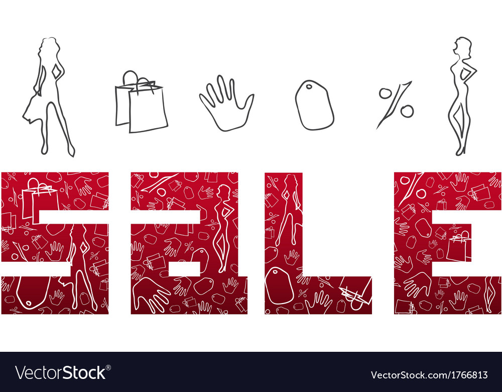Red sign sales vector | Price: 1 Credit (USD $1)