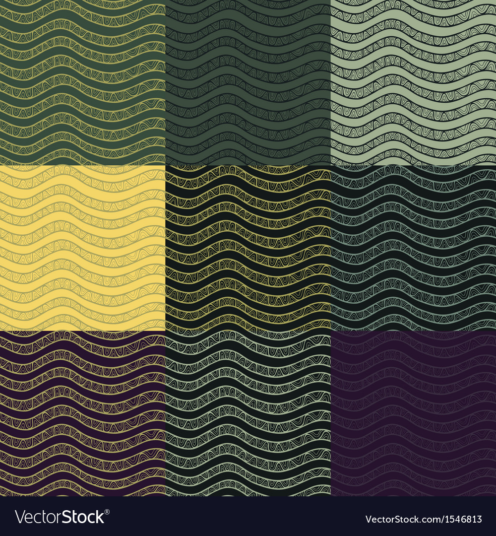 Set os abstract seamless patterns vector | Price: 1 Credit (USD $1)