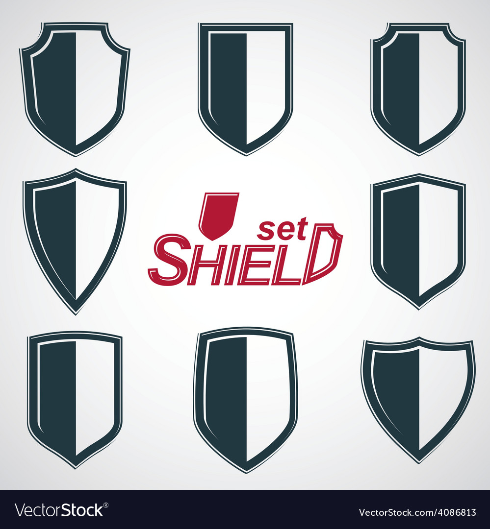 Shield emblems vector | Price: 1 Credit (USD $1)